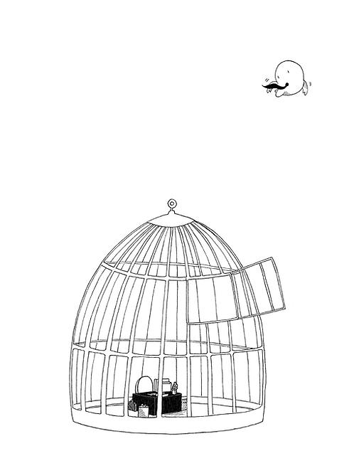 Jaula - Print Ilustración Dalmaus