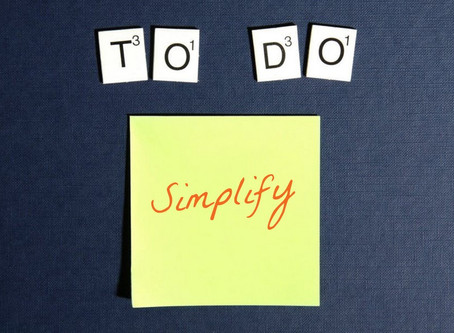 Simplify your way to less stress