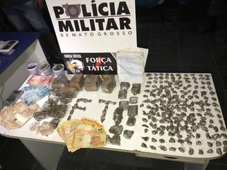 Polícia Militar derruba boca de fumo e realiza grande apreensão de drogas em Sinop