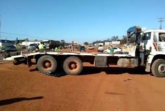 TRÁGICO: Caminhão passa por cima de motociclista que morre na hora na BR 163
