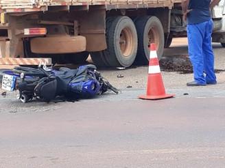 ACIDENTE FATAL: Motociclista morre na BR-163 entre Sinop e Sorriso - VEJA O VÍDEO