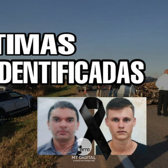 Identificadas as duas vítimas mortas em acidente grave, registrado na BR 163 entre Lucas do Rio Verd