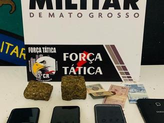 COMERCIANTE DAS DROGAS: Adolescente é apreendido pela PM após comprar drogas para revender em Sinop