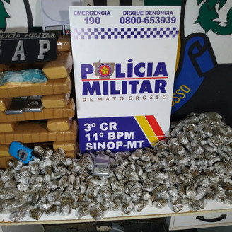 Polícia Militar apreende 25 quilos de maconha que seriam entregues em Sinop