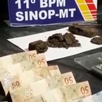 Sinop: Droga é encontrada pela PM enterrada em quintal, três pessoas presas