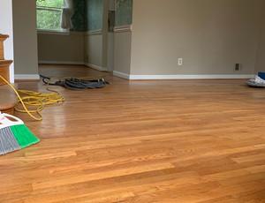 White oak floor before