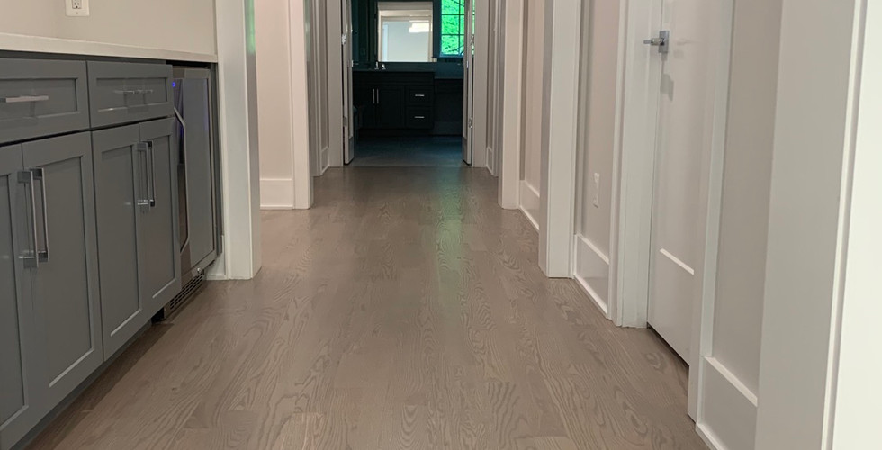 Red oak floor with stain mix