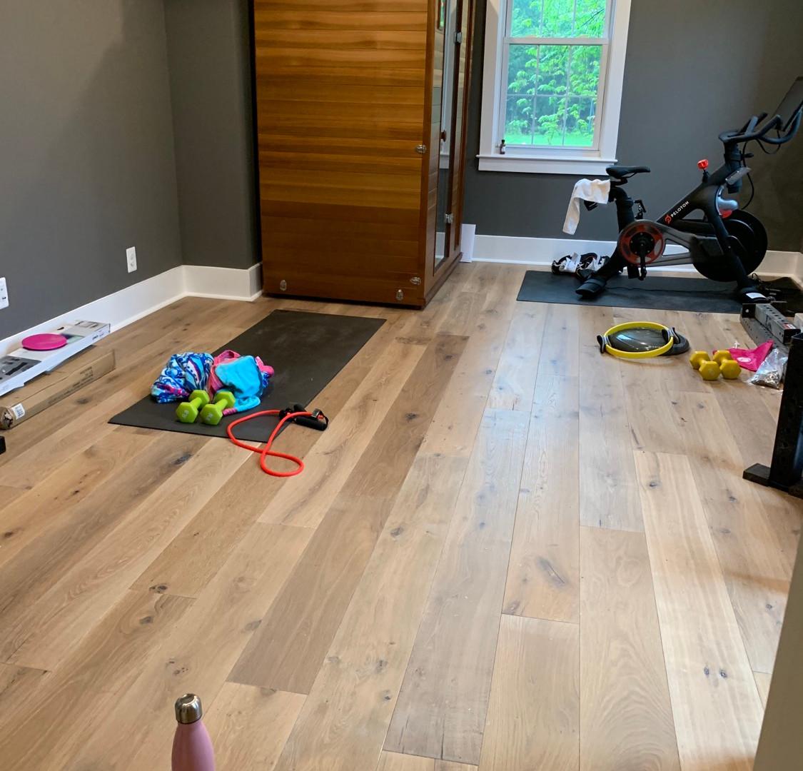 Hardwood installation done