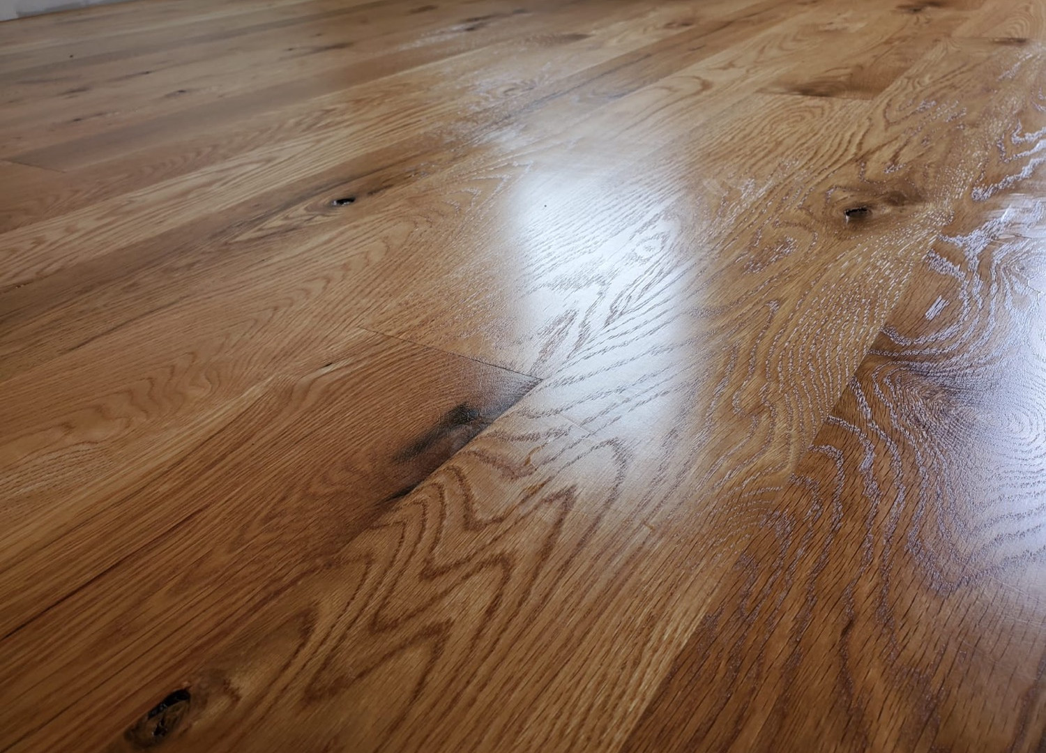 Rustic white oak with magic oil over the top