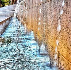 Falling Water  #water #fountain #reflect