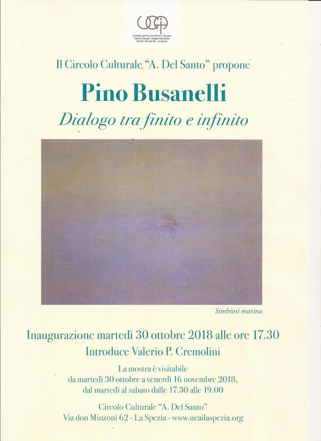 """PINO BUSANELLI """"Dialogo tra finito e infinito""""presenta il critico d'arte Valerio CREMO"""
