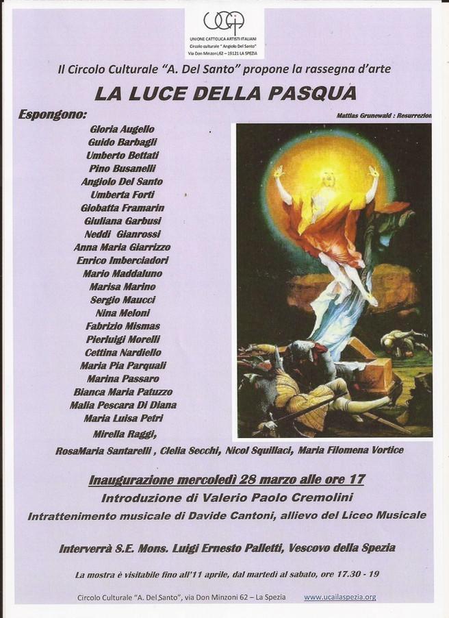 La LUCE della PASQUA introduzione di Valerio CREMOLINI intrattenimento musicale di Davide CANTONI in