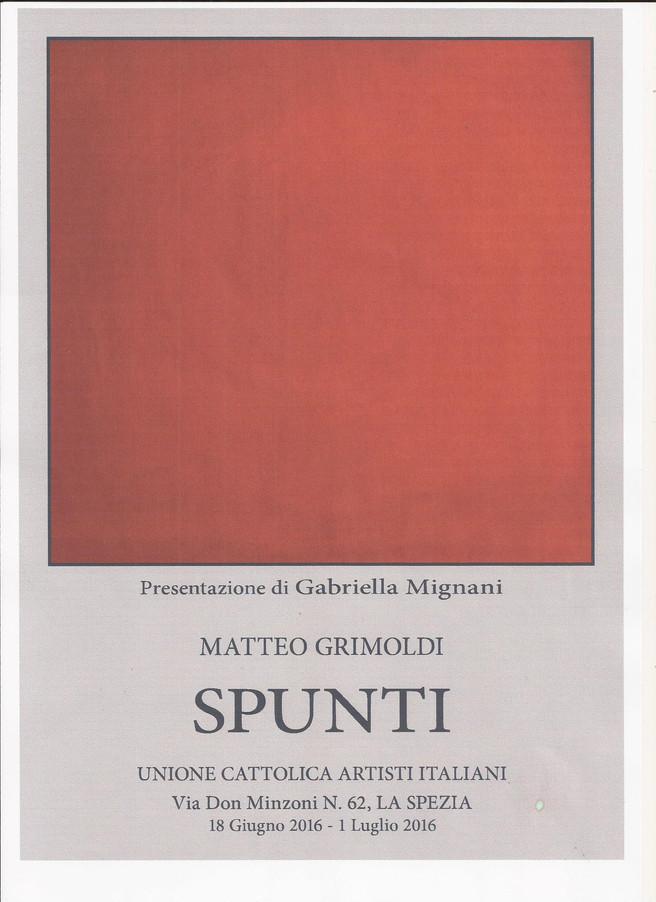 SPUNTI                                                                         Matteo GRIMOLDI