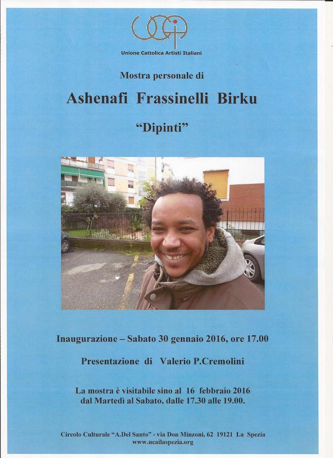 Mostra personale di ASHENAFI FRASSINELLI BIRKU