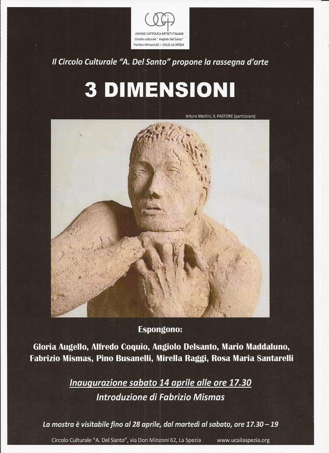 Collettiva di scultura soci UCAI espongono Gloria Augello,Pino Busanelli,Alfredo Coquio,Angiolo Del