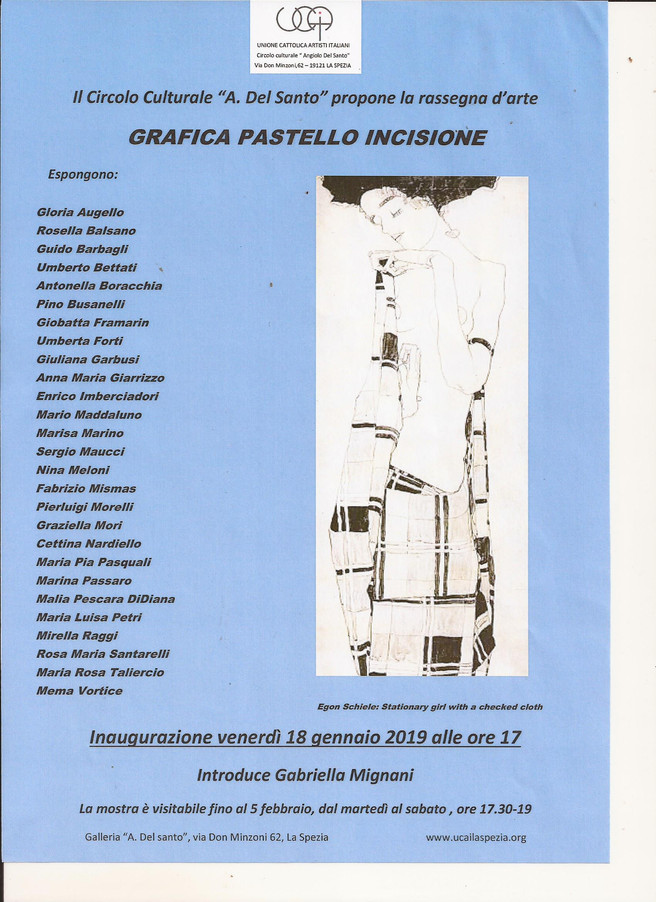 GRAFICA PASTELLO INCISIONE                                introduce Gabriella MIGNANI