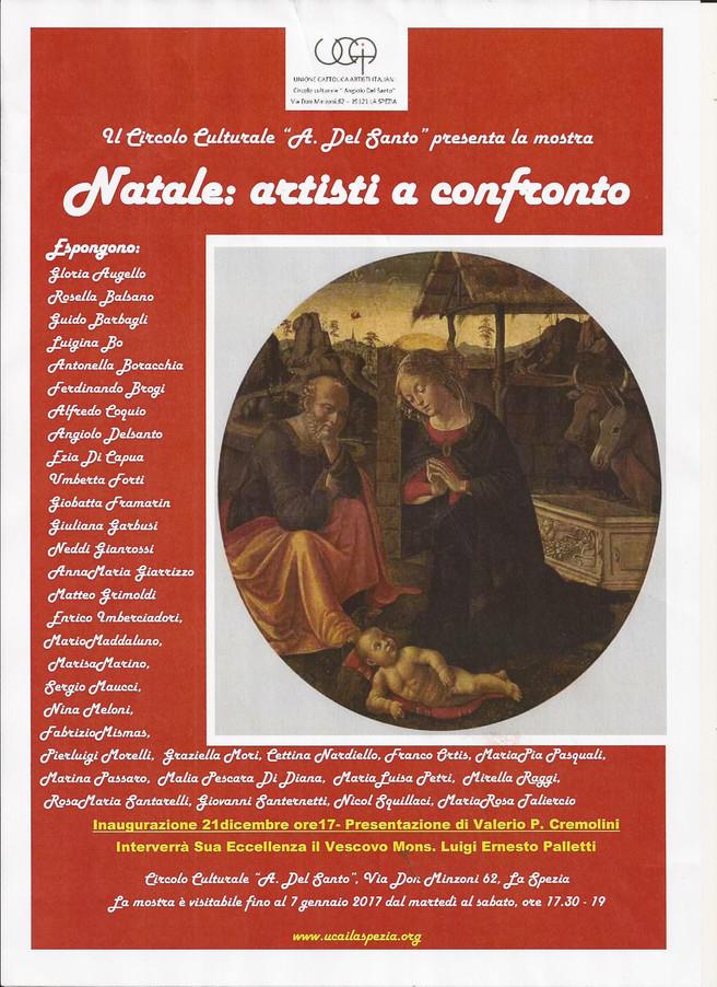 NATALE : artisti a confronto      presentazione di Valerio P.Cremolini