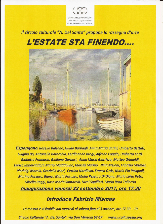 L'ESTATE STA FINENDO........                              introduce Fabrizio MISMAS