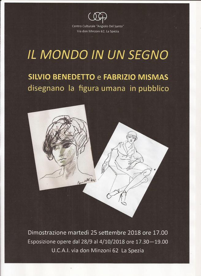 IL MONDO IN UN SEGNO gli artisti Silvio Benedetto e Fabrizio Mismas disegnano la figura umana in pub