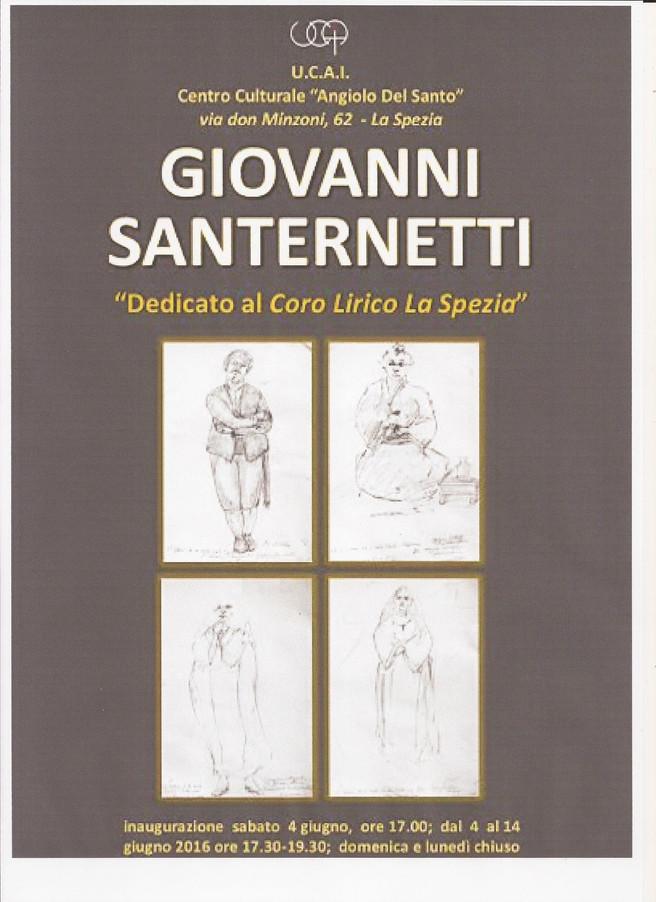 """GIOVANNI SANTERNETTI                                  dedicato al """"CORO LIRICO LA SPEZIA"""""""
