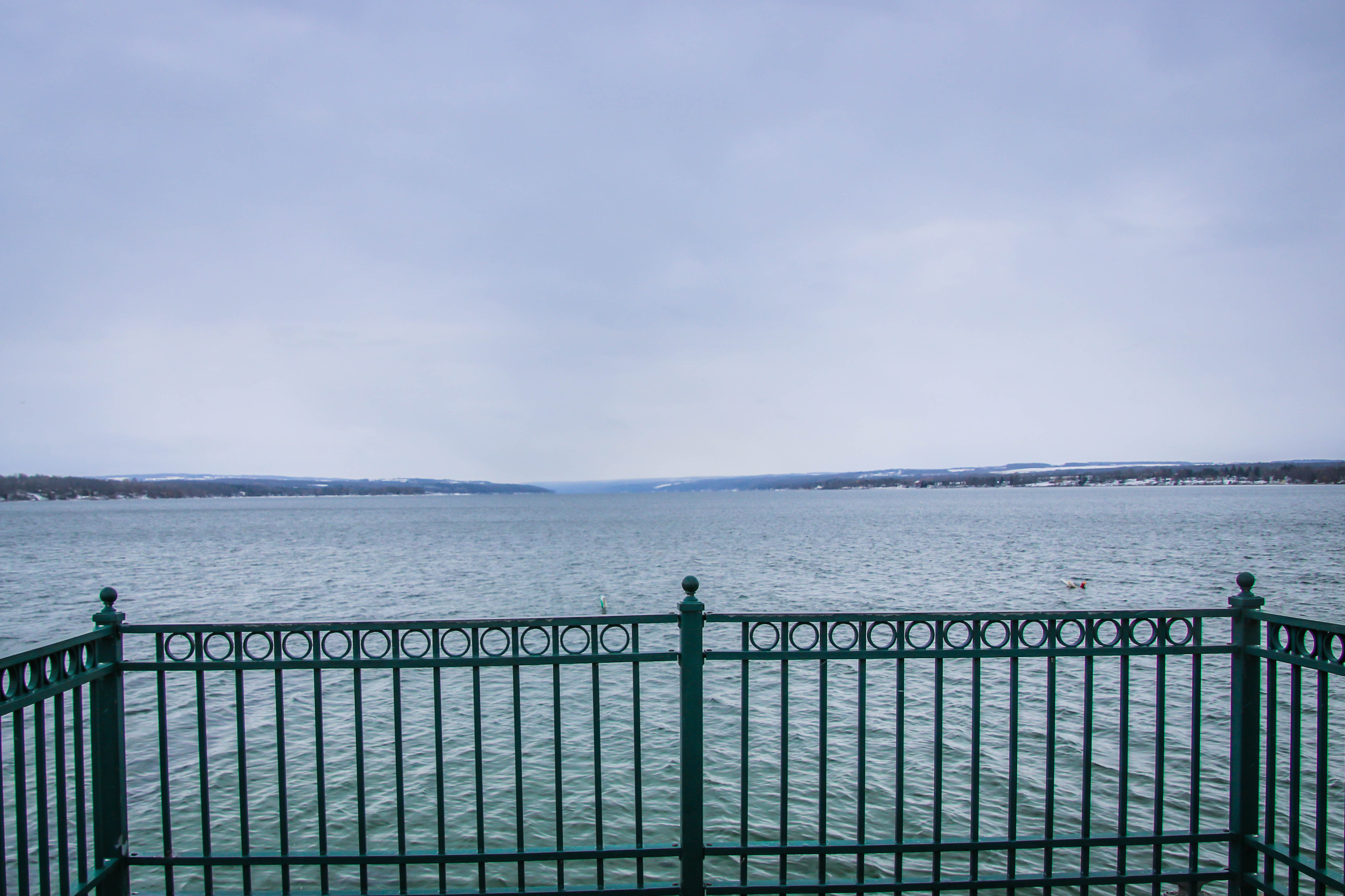 Lake view from the end of the pier