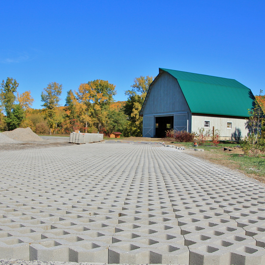 Turf Paver Parking Area Completed