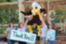 Finger Lakes Museum & Aquarium's Mascot Soren with Staff & Volunteers