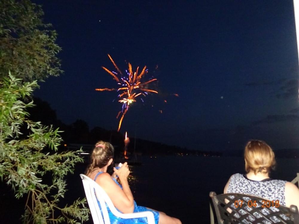 Fireworks at Canandaigua Lake