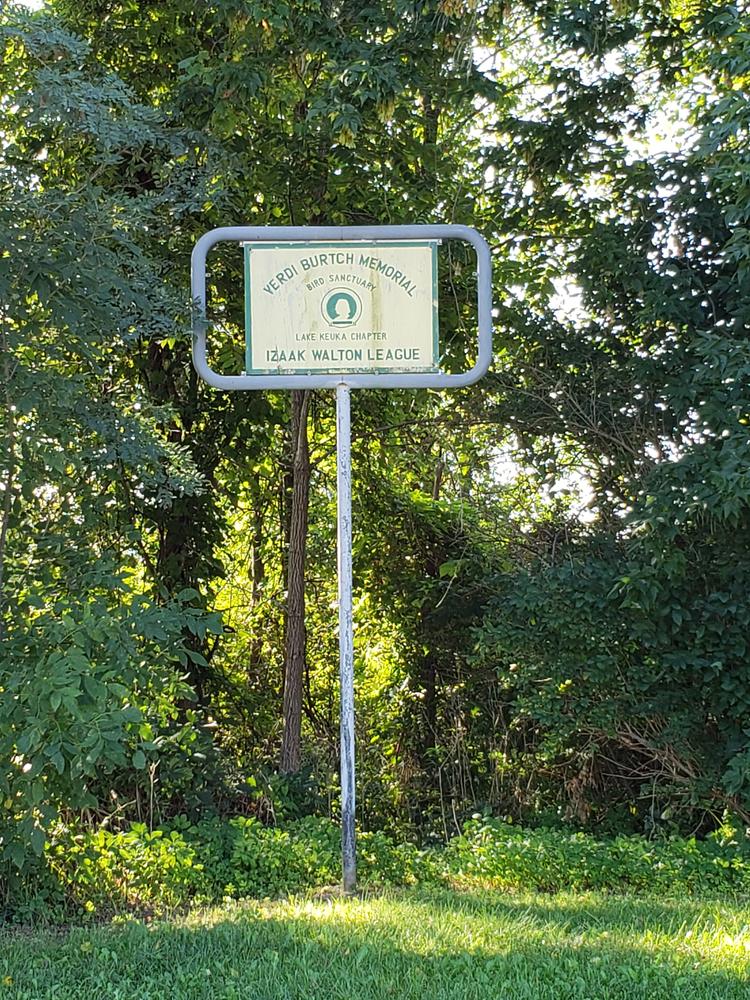 Verdi Burtch Memorial sign