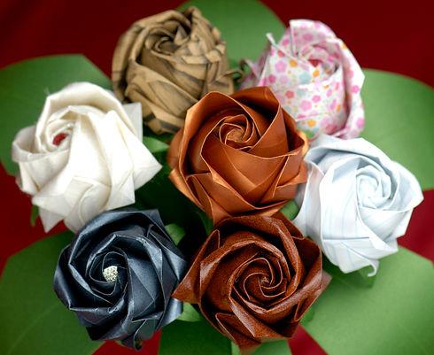 Paper Rose Wedding Anniversary Bouquet