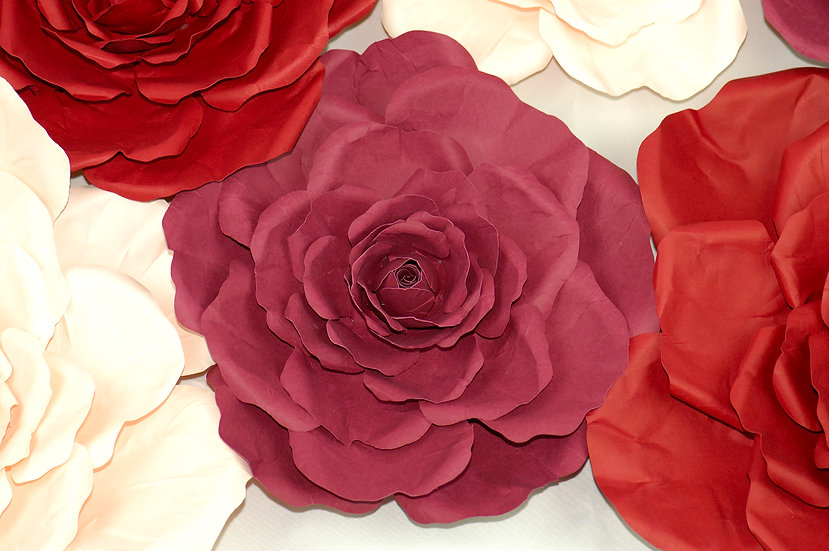 Giant Paper Rose Flower - Wall Decoration