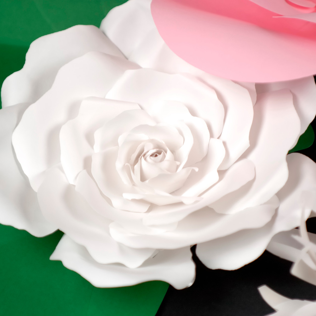 Wall giant flower decor - pink flower 2