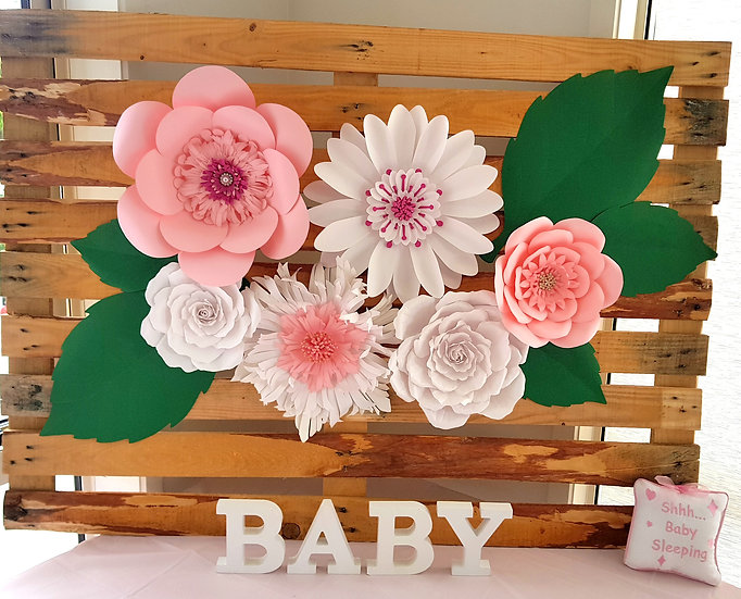 Giant Paper Flowers Wall Decor | Nursery, Wedding | NZ