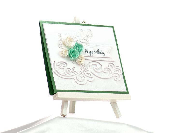 Happy Birthday Swirl Card | ARZU ZIEGLER | Full Card | Wellington | NZ