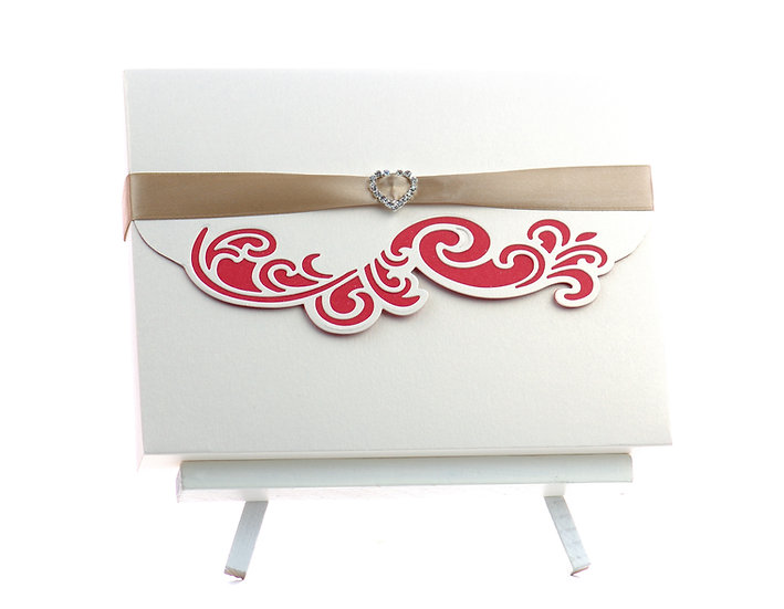 Handmade Happy Birthday Card | Flower model | red | Envelope closed | Arzu Ziegler | Lower Hutt | NZ