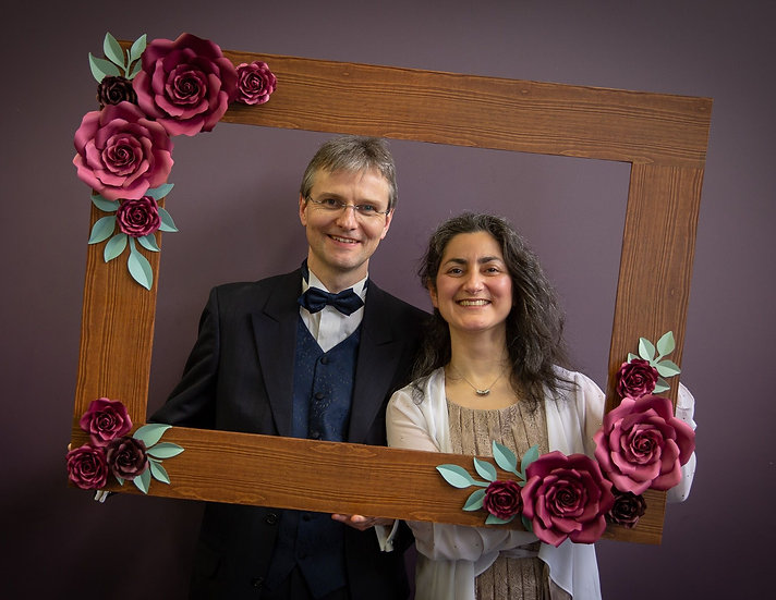 Giant Photo Frame | Large Photo Booth Frame Prop | Handmade Flowers | ARZU ZIEGLER | Wellington | NZ