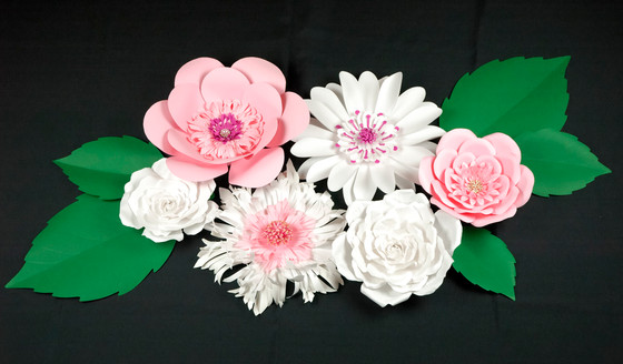 Nursery Wall Decoration with Giant Paper Flower