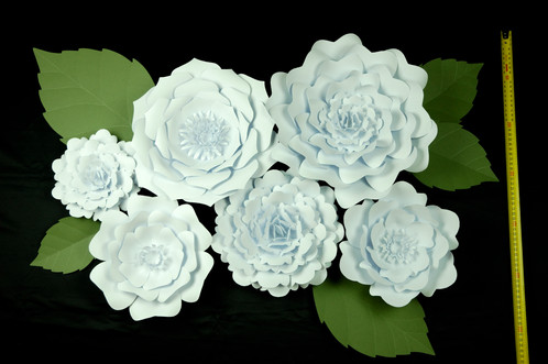 Big Paper Flowers Wall Decoration