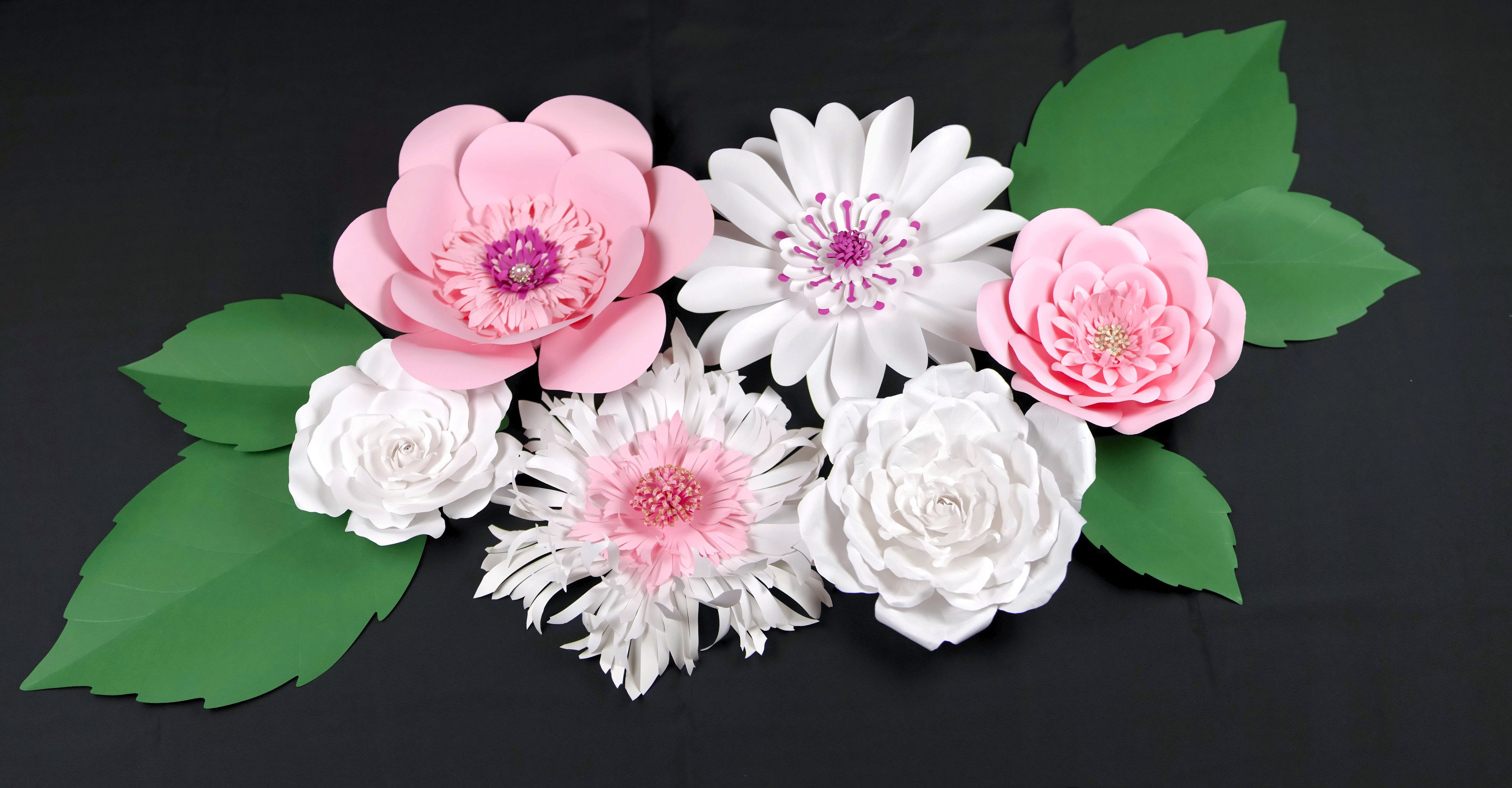 Handmade Giant Paper Flowers Wall Decoration Nursery Decor
