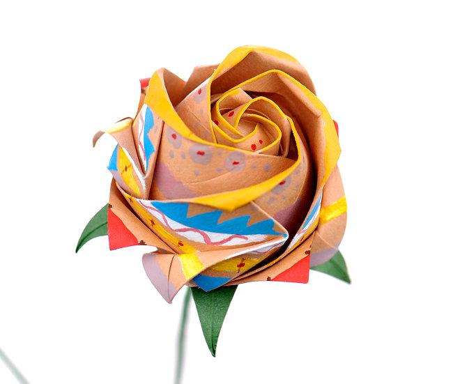 Handmade Paper Rose as Wedding Anniversary Gift
