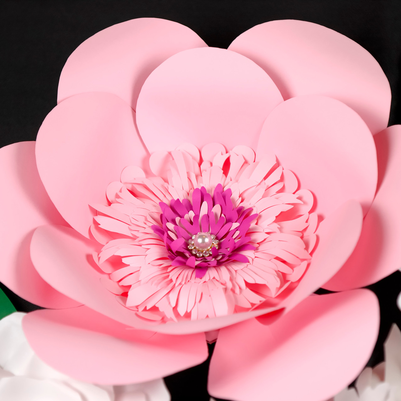 Wall giant flower decor - pink flower 2.
