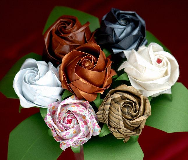 Paper Rose Bouquet | Wedding Anniversary | whole bouquet | Arzu Ziegler | Lower Hutt | NZ