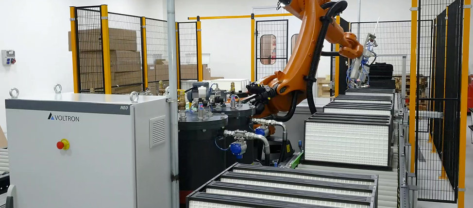 Robotic Gluing and Gasketing Line For Air Filter Production