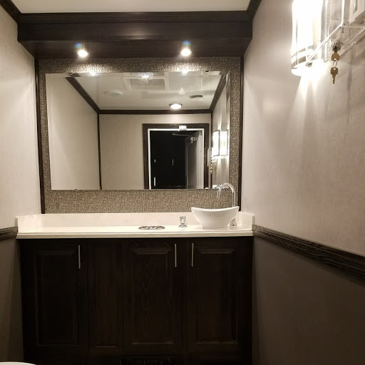Lux Restroom Trailer Interior