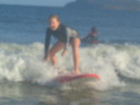 sufing a umina beach on the central coast