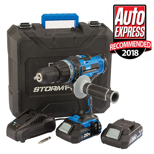 Draper Stormforce 20V Combi Drill - 2 X2AH Batteries and Charger