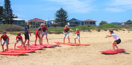 group surf lessons central coast