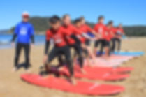 group surf lessons at umina bech