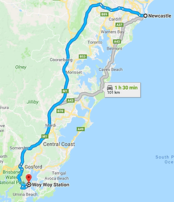newcastle to umina by car.png