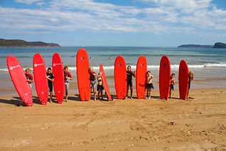school holday surf lessons central coast